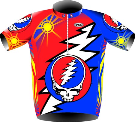 Front of GD cycling shirt